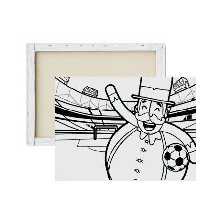 Tela Para Pintura Infantil - Mundo de Bita Futebol