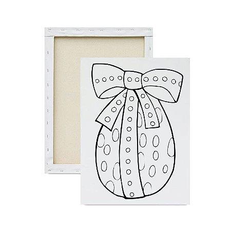 Tela Para Pintura Infantil - Ovo de Páscoa Detalhado