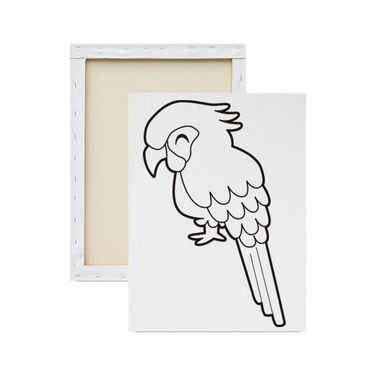 Tela Para Pintura Infantil - Papagaio