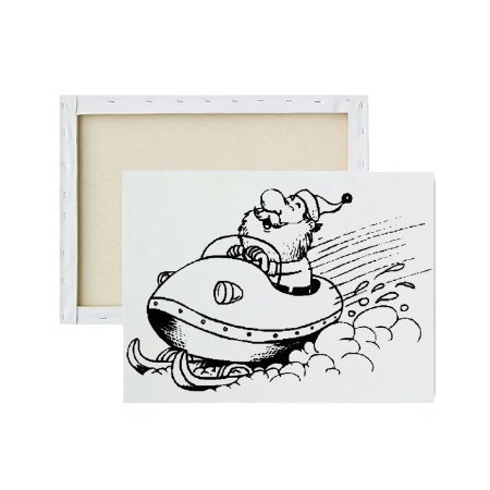 Tela Para Pintura Infantil - Papai Noel Vrum