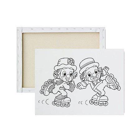 Tela Para Pintura Infantil - Patati e Patata
