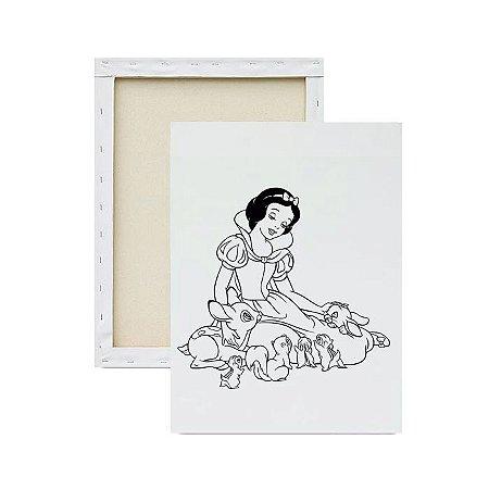 Tela para pintura infantil - Princesa e os Animais