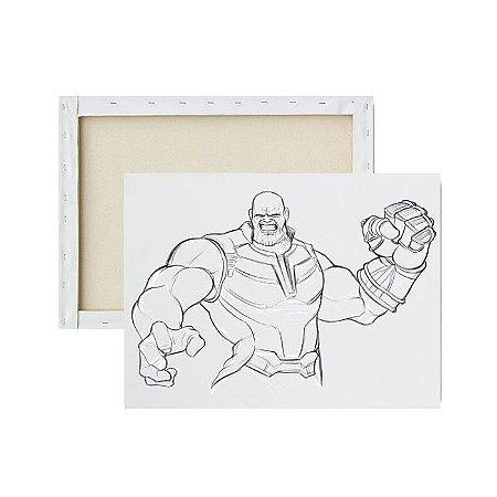 Tela Para Pintura Infantil - Thanos Raivoso