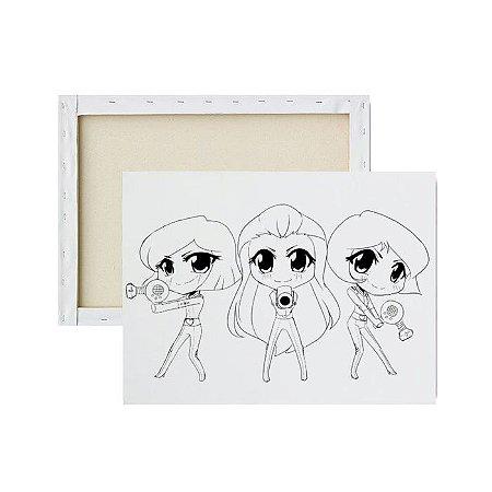 Tela Para Pintura Infantil - Três Espiãs Demais