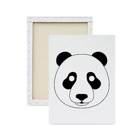 Tela para pintura infantil - Panda