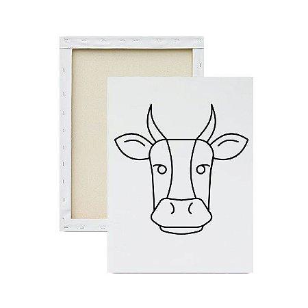 Tela para pintura infantil - Vaca