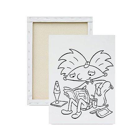 Tela para pintura infantil - Arnold estudando