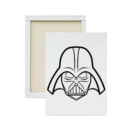 Tela para pintura infantil - Darth Vader