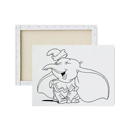 Tela para pintura infantil - Dumbo