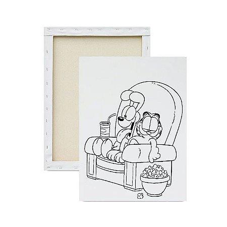 Tela para pintura infantil - Garfield e Odie