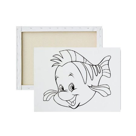 Tela para pintura infantil - Linguado