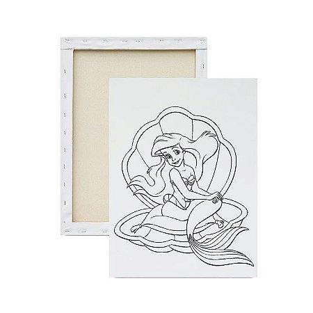 Tela para pintura infantil - Pequena Sereia na Concha