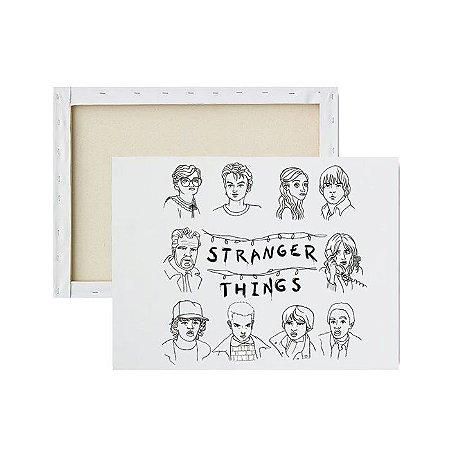 Tela para pintura infantil - Personagens de Stranger Things