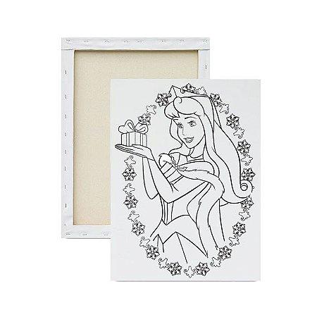 Tela para pintura infantil - Princesa Aurora e o Presente