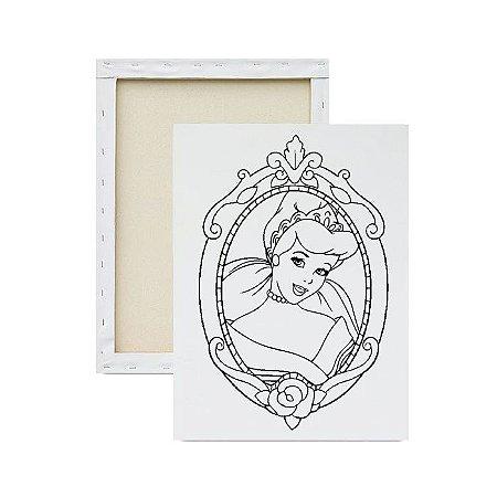 Tela para pintura infantil - Princesa Cinderela no Espelho