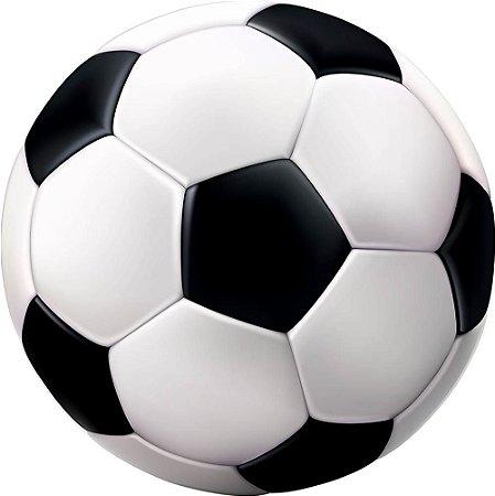 Painel de Festa Redondo em Tecido Sublimado Bola de Futebol c/elástico