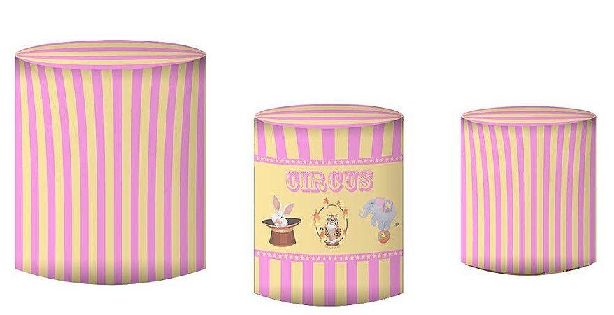 Kit Capas de Cilindro de festa em tecido sublimado Circo Mod2