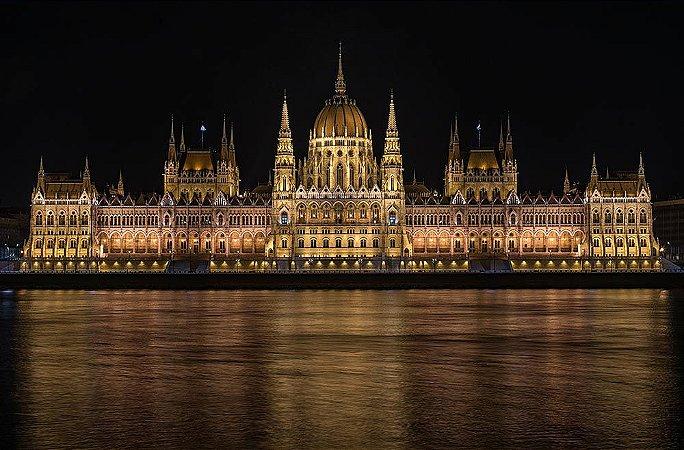 Painel de Festa em Tecido Sublimado 3d Castelo Parlamento
