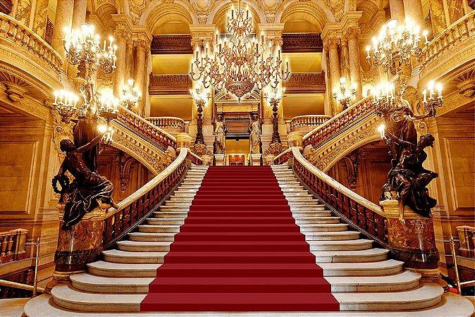 Painel de Festa em Tecido Sublimado 3d Escadaria Realeza