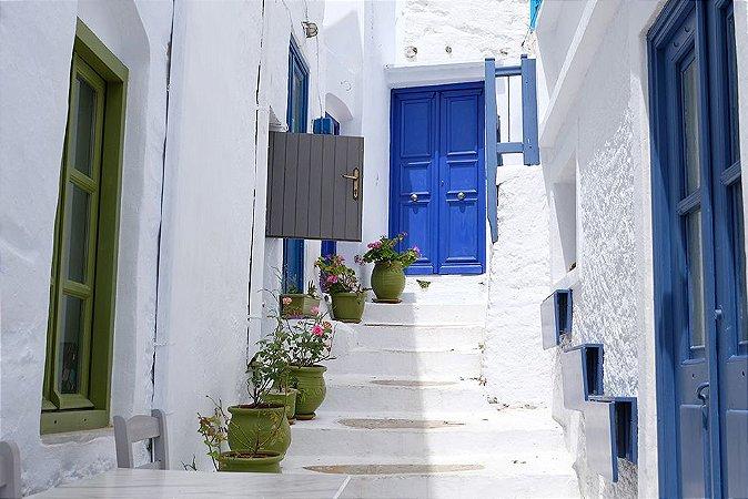 Painel de Festa em Tecido Sublimado 3d Escadaria Grega