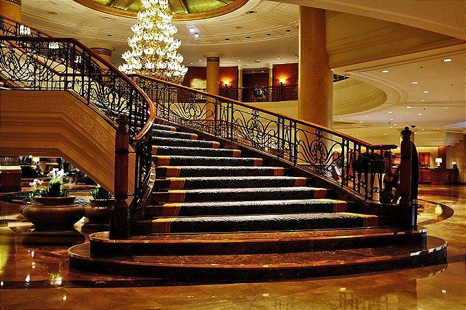 Painel de Festa em Tecido Sublimado 3d Escadaria Hotel