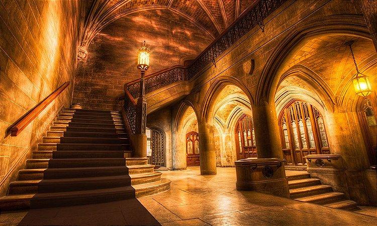 Painel de Festa em Tecido Sublimado 3d Escadaria Iluminada Tapete