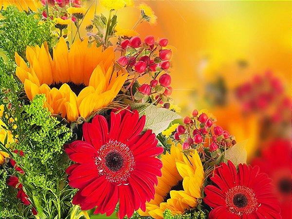 Painel de Festa em Tecido Sublimado 3d Lindas Flores