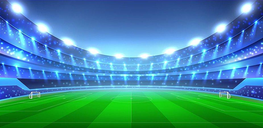 Painel de Festa em Tecido Sublimado 3d Estádio de Futebol mod2