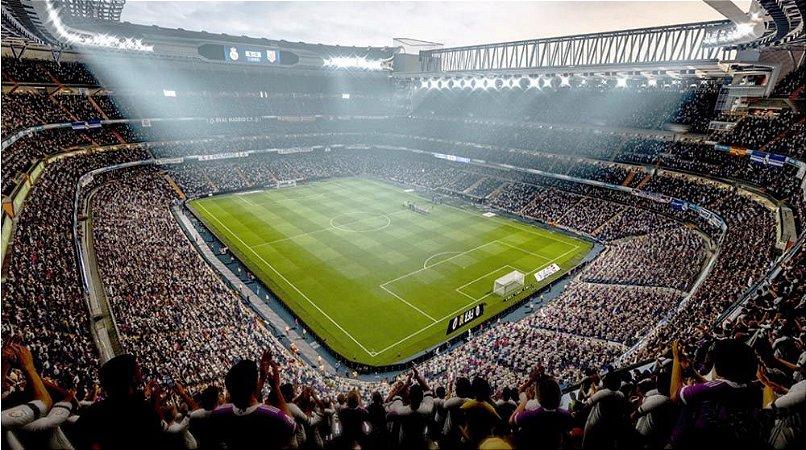Painel de Festa em Tecido Sublimado 3d Estádio de Futebol Mod5