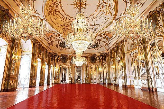Painel de Festa em Tecido Sublimado 3d Hall Palácio Tapete