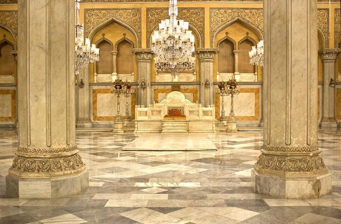Painel de Festa em Tecido Sublimado 3d Hall Palácio Indiano