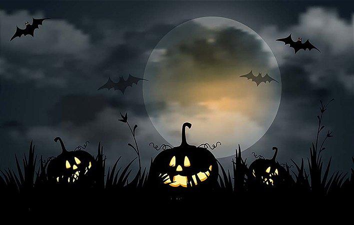 Painel de Festa em Tecido Sublimado 3d Halloween Mod2