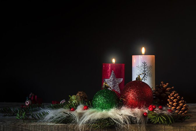 Painel de Festa em Tecido Sublimado Enfeite de Natal