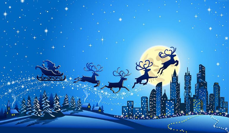Painel de Festa em Tecido Sublimado Renas no Natal