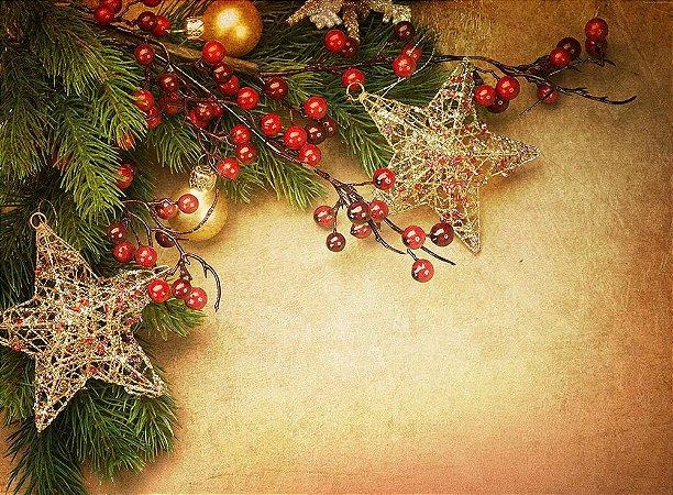 Painel de Festa em Tecido Sublimado Natal Mod3