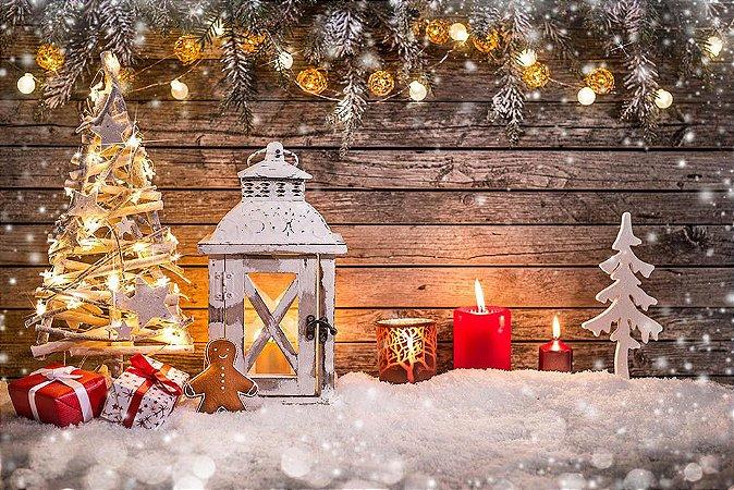 Painel de Festa em Tecido Sublimado Natal