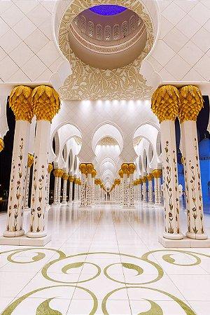 Fundo Fotográfico em Tecido Sublimado Palácio Árabe