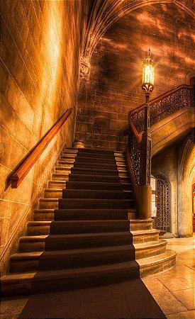 Fundo Fotográfico em Tecido Sublimado Escadaria Iluminada