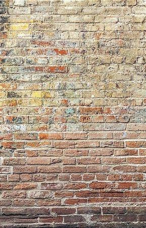 Fundo Fotográfico em Tecido Sublimado Muro de Tijolos Mod2