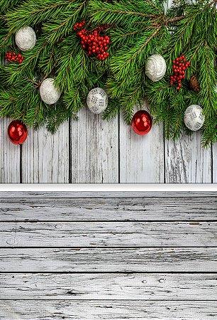 Fundo Fotográfico em Tecido Sublimado Natal