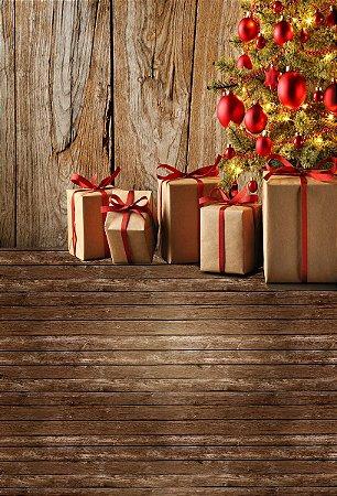 Fundo Fotográfico em Tecido Sublimado Presentes de Natal