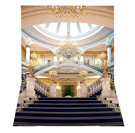 Fundo Fotográfico em Tecido Sublimado Hall e Escadaria