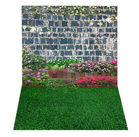 Fundo Fotográfico em Tecido Sublimado Muro do Jardim