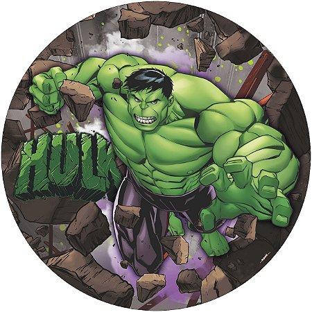 Painel De Festa Em Tecido Abre Fácil Vingadores Hulk 1,55m