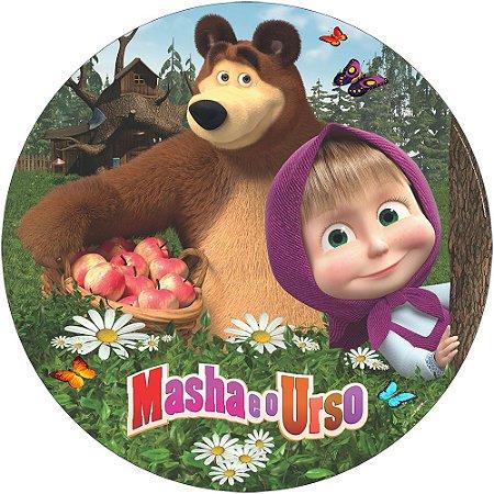 Painel De Festa Em Tecido Abre Fácil Masha e o Urso 1,55m