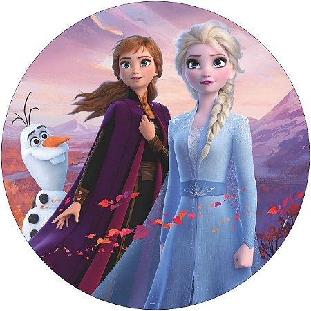 Painel De Festa Em Tecido Abre Fácil Frozen 1,55m