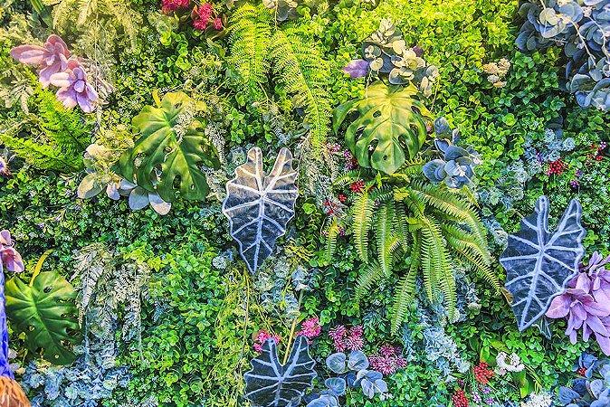 Painel de Festa em Tecido Sublimado 3d Muro Tropical