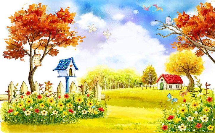 Painel de Festa em Tecido Sublimado 3d Bosque na Primavera