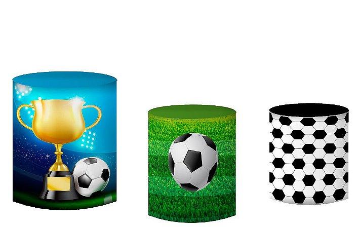 Kit Capas de Cilindro de festa em tecido sublimado Futebol