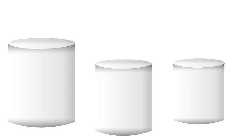 Kit Capas de Cilindro de festa em tecido sublimado Branco